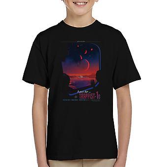 NASA Trappist 1e Interplanetary Travel Poster Kid's T-Shirt