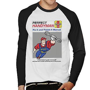Haynes Handyman Fix It And Finish It Manual Miesten&s Baseball Pitkähihainen t-paita
