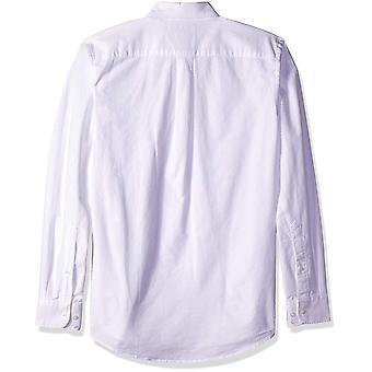 أساسيات الرجال & apos;ق سليم تناسب طويلة الأكمام الصلبة جيب أكسفورد قميص أكسفورد, أبيض ...