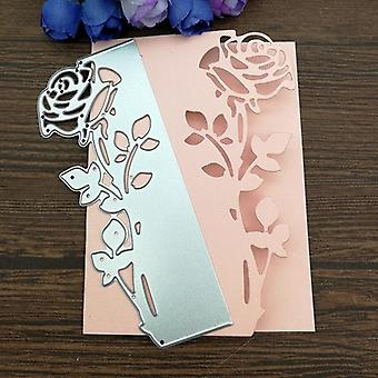 Rose Leaves Edge Metal Cutting Dies Stencils - Die Cut For Diy Scrapbooking,