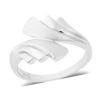 RACHEL GALLEY Bypass Ring Beste Cadeau voor vrouwen en meisjes Sterling Silver Size N
