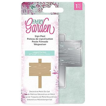 Crafter's Companion Fairy Garden Metal Die Sign Post