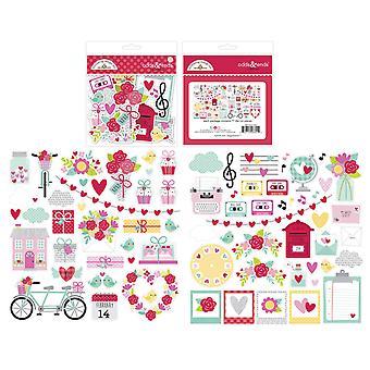 Doodlebug Design Love Notes Odds & Einden (77pcs) (6601)