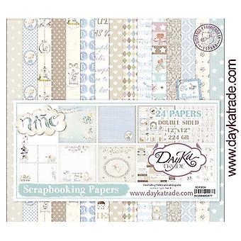 DayKa Trade Bebe Niño 12x12 Inch Paper Pack