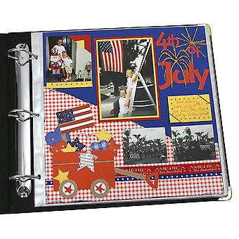 62227, Memory Book - 12 x 12 Scrapbook Page Protectors, top loading, clear, 50/BX, 62227