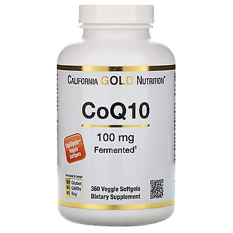 California Gold Nutrition, CoQ10, 100 mg, 360 vegetarische Softgels