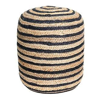 Spura Home Hand Made Jutee Braided Multi-Coloured Pouf Foot-Stools Soft Seating
