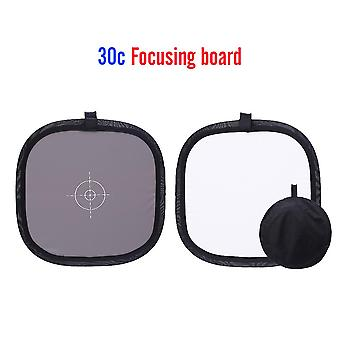 30CM Portable Gray-Card Light-Reflector White Balance Double-Face-Focusing Board with Carry-Bag