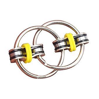 Quebra-cabeça de metal, chaveiro-chave de mão-fidget brinquedo sensorial