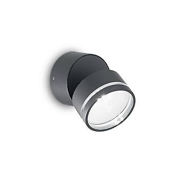 Idealny Lux Omega - LED 6 Światło zewnętrzne Światło ścienne Antracyt IP54