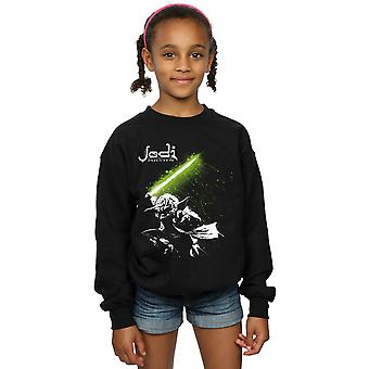 Star Wars Tytöt Yoda Jedi Master Collegepaita