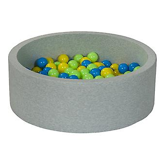 Boks kulowy 90 cm ze 150 kulkami żółty, niebieski i jasnozielony