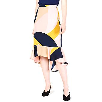 Bar III | Colorblocked Trumpet Skirt