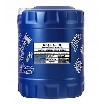 Mannol 10L M.O. SAE 50 API CH-4 Single-Grade Engine Oil MIL-L 2104 C CAT S 3