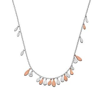 Hete diamanten Sterling Zilver Rose Gold Plate Monsoon verklaring ketting DN139