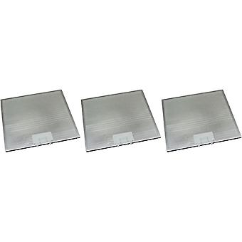 3 x Universal Cooker Hood Metal Grease Filter 305mm x 264mm