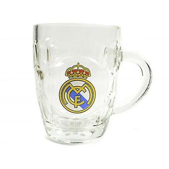 Real Madrid CF virallinen dimple tankard tuoppi lasi