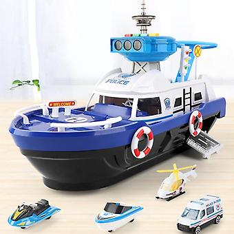 Simulation Track Inertia Boat Diecasts & Vehicles Music Story Light Toy, Navire