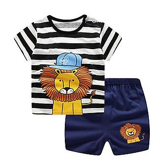 Baby Boy Sports Vêtements Survêtement Active Striped Tshirt + shorts Vêtements Ensembles