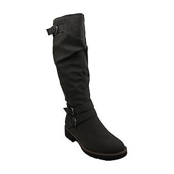أمريكا خرقة النساء برينلي أغلقت toe الركبة أحذية الموضة الراقية