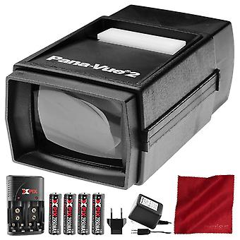 Pana-vue 6562 slide viewer #2 with transformer + battery & charger kit deluxe bundle ps71379
