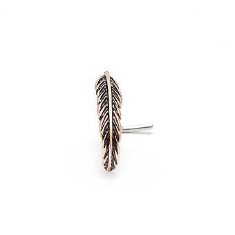 Næse ringe stud l-formet blad kirurgisk rustfrit stål 20g krop smykker online
