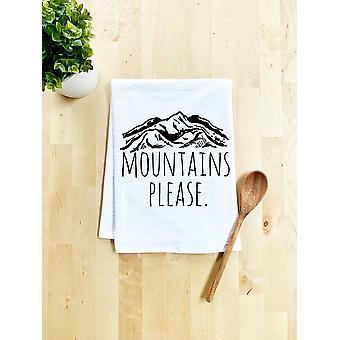 الجبال يرجى طبق منشفة