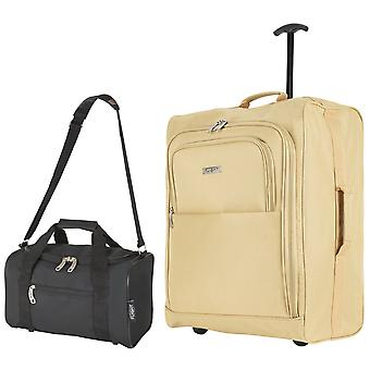 Baudwin cabin suitcase 56x45x25cm & holdall 35x29x20cm
