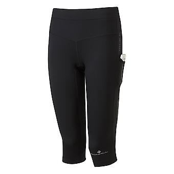 Ronhill Tech Revive Womens Stretchy & Breathable Capri/cropped Tights All Black