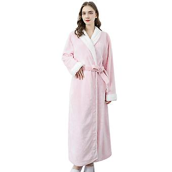 Flannel Pajamas,men And Womens  Hooded Flannel Long Robes,winter Housecoats