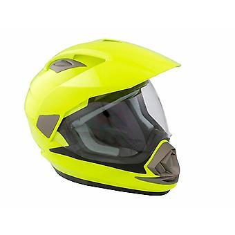 GSB XP-14A Adventure Full Face Motorcycle Helmet Yellow Hi-Vis Dual Sport