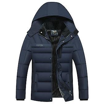 الشتاء سترة الرجال سميكة مقنعين الملابس الخارجية للماء دافئ الآباء و apos؛ الملابس