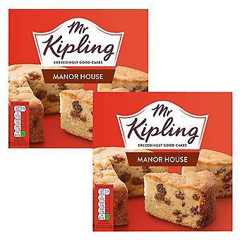 2 x 390g M. Kipling Moelleux Sponge Cake Sultana Raisins Dessert Sweet Tea Snack