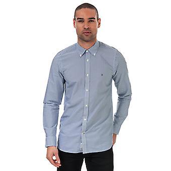 Men's Tommy Hilfiger Natural Soft Printed Slim Fit Shirt in Blue