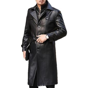 Corey mens high fashion leather parka coat