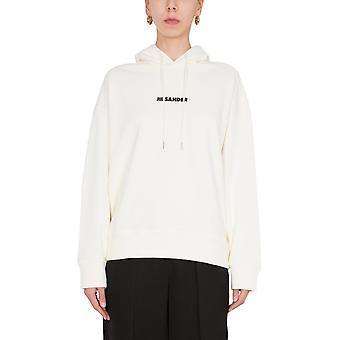 Jil Sander Jpps707512ws248608106 Women's Beige Cotton Sweatshirt