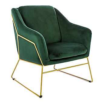 Charles Bentley Tilburg Velvet Occasion Chair Forest Green Home Living Contemporary Living Area Statement Piece