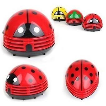 Cute Portable Beetle Ladybug Cartoon, Desktop Vacuum Desk Dust Cleaner, Small