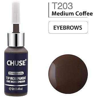 CHUSE T203 Microblading Micro Pigment Permanent Makeup Tattoo Ink Cosmetic Color Medium Coffee Passe