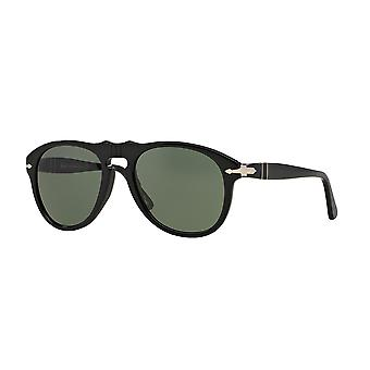 Persol PO0649 95/31 Black/Crystal Green Sunglasses
