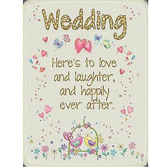 The Original Metal Sign Company Wedding Sentiment Fridge Magnet