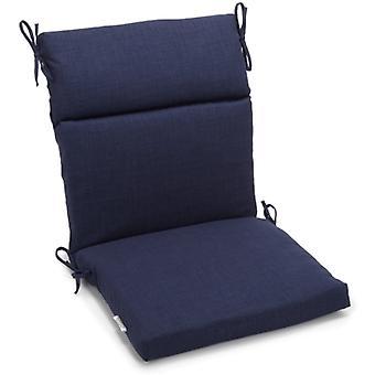 Coussin de chaise carrée extérieure en polyester de 18 pouces par 38 pouces - Azul