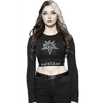Blackcraft Cult BCC Goat Long Sleeve Crop Top