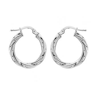 Boucles d'oreilles Eternity Silver 20mm Twisted Hoop