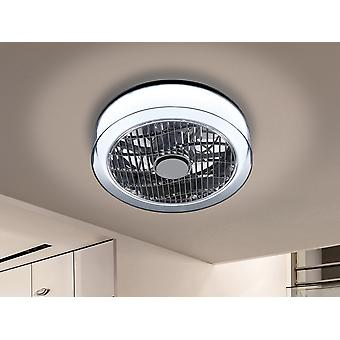 Schuller Wind geïntegreerde LED-licht plafondventilator, chroom rook, afstandsbediening