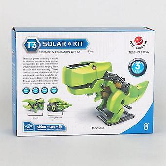 Stem Solar Power, Transformation Dinosaur & Hercules Beetle& Driller Robot Kit,