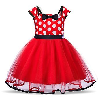Baby meisjes cartoon polka dot jurk prinses partij tutu rok rode maat 100