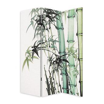 3 Panel Reversible Bamboo Art Room Divider Screen