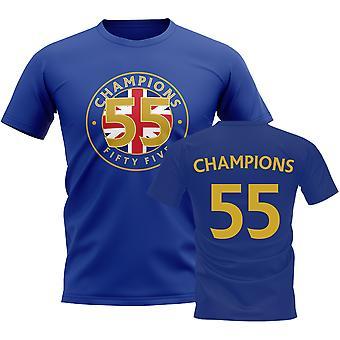55 Times Champions T-Shirt (Blue)