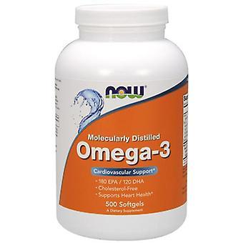 Jetzt Lebensmittel Omega-3 molekular destilliert 500 Softgels